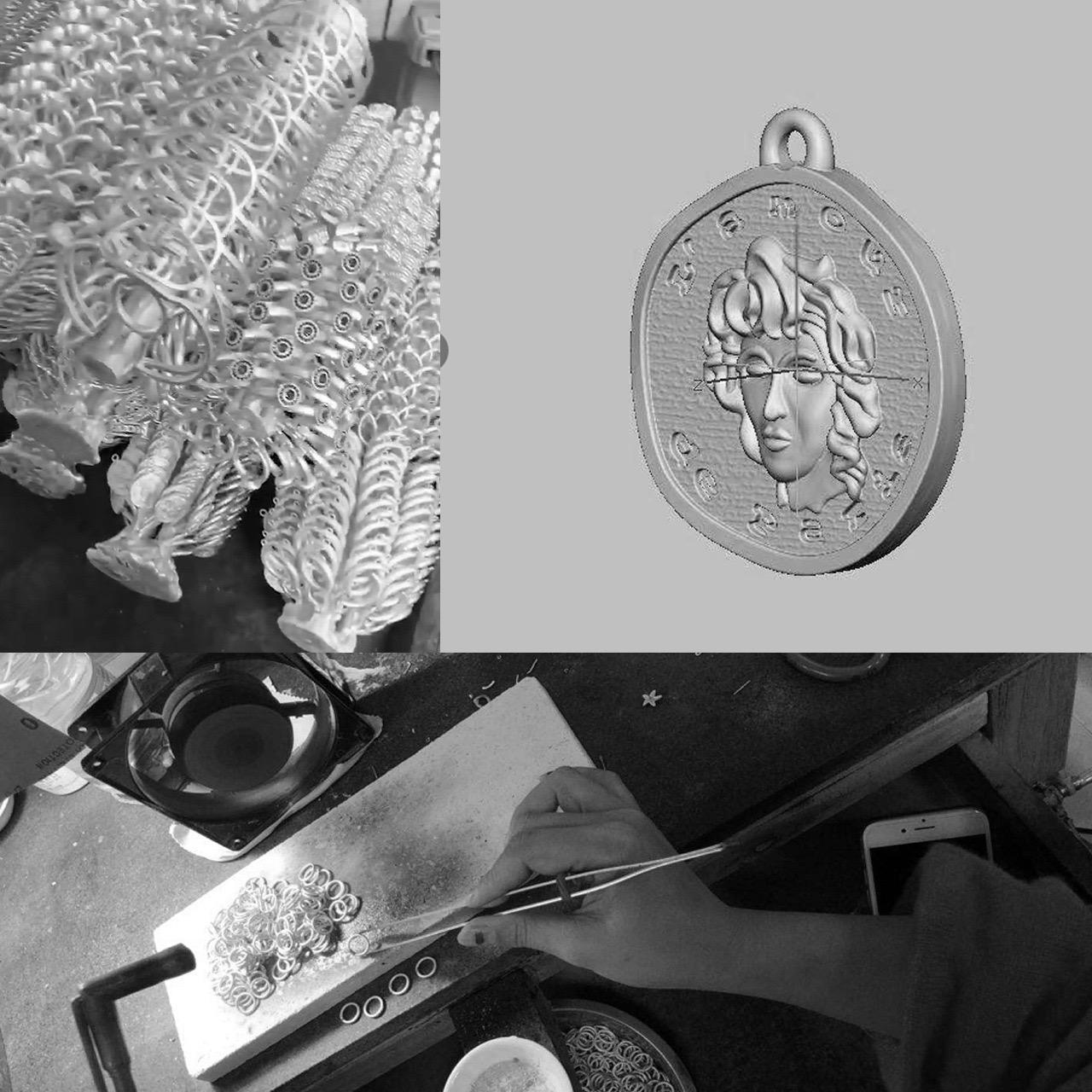 Fairy crown jewelry customized pure silver gilded gemstone inlay original design silver