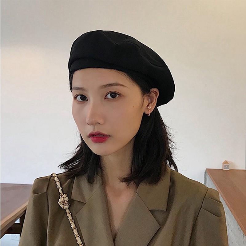 中國代購|中國批發-ibuy99|女士帽子|灰色贝雷帽2020年新款秋天帽子洋气时尚小头围小号女士漂亮的日系