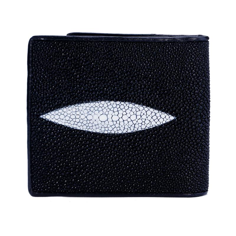 Yonlia / Yongliang New Pearl Fish Skin Wallet short Devil Fish Skin Wallet Leather Mens short Wallet