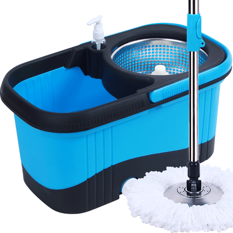 【百家好世】免手洗自动旋转拖把桶