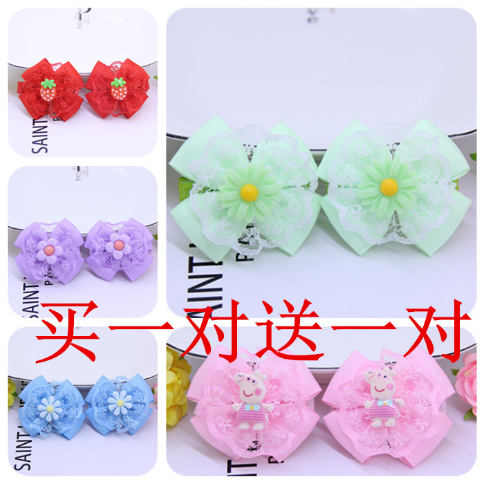 Childrens hair accessories baby hairpin does not hurt hair girls headdress clip Chinese style bow new fashion hairpin