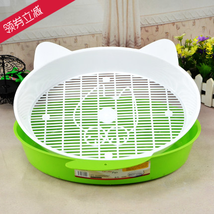 中恒卡通猫砂盆双层幼猫厕所松木水晶小号开放式猫屎盆清洁用品