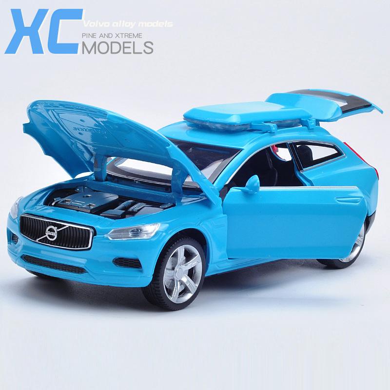 沃尔沃XC合金车模 儿童玩具越野小汽车 嘉业1:32声光回力车模型