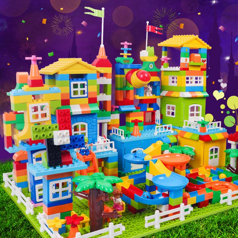 倍奇大颗粒积木益智玩具拼装儿童3岁宝宝男孩城堡拼插6女孩子lego