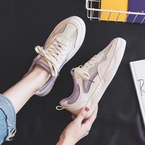 夏季小白鞋2020新款女鞋百搭学生透气网面网鞋薄款板鞋春夏帆布鞋