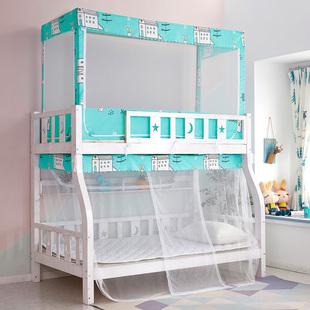 子母床蚊帐上下铺双层高低梯形床1.2m1.5米儿童1.8家用1.35米蚊帐图片