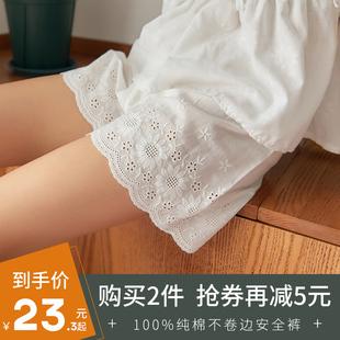 薄款 女防走光夏季 纯棉内外穿宽松打底裤 不卷边安全裤 三分保险短裤