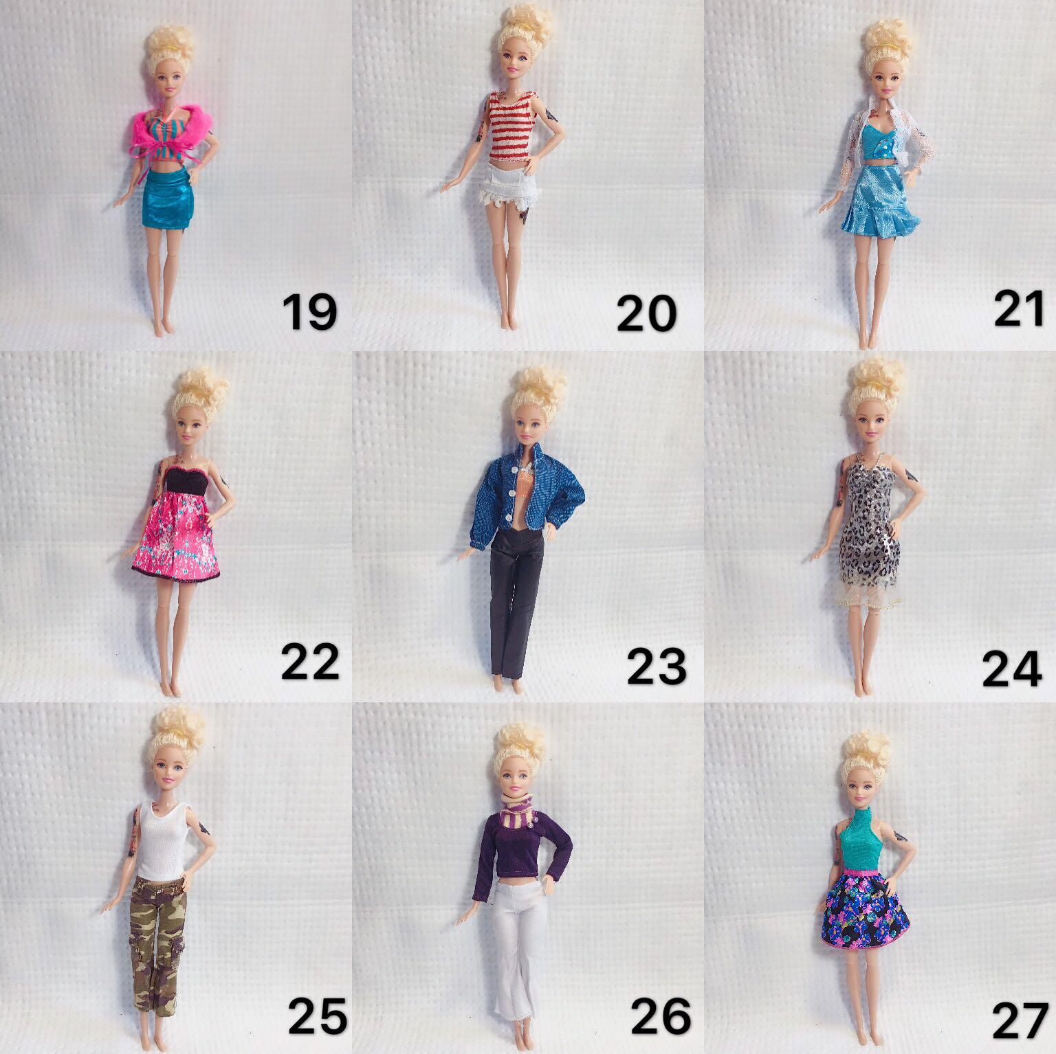 暴躁的芭比 30厘米娃娃衣服 娃娃休闲衣服 巴比6分娃娃衣服10月13日最新优惠
