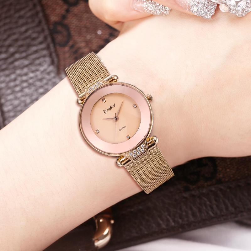 女士时尚手表简约大气不锈钢微商淘宝热销防水手表