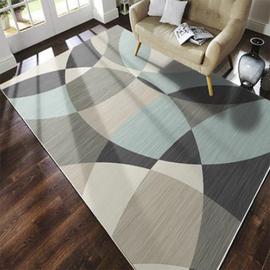 北欧茶几垫床下地毯客厅卧室床边现代简约床尾家用地垫定制大面积