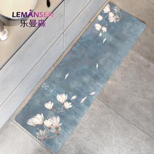 中式厨房pvc防油防水家用蹭脚垫