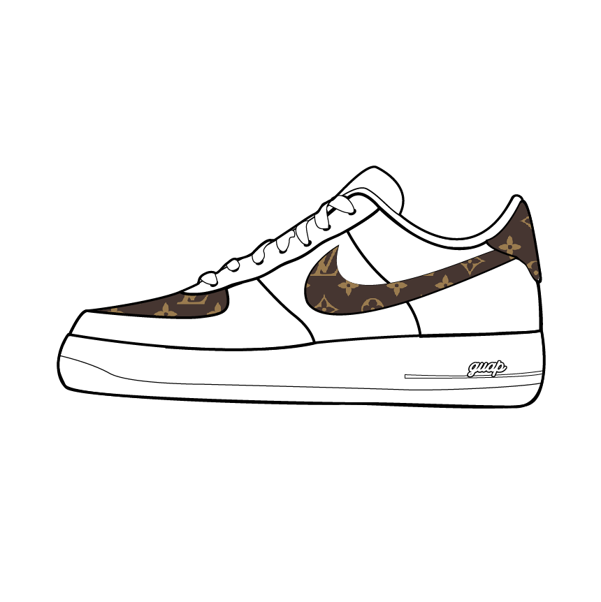 GUAP LUXURY BRAND CUSTOM SHOES CUSTOM AF1 Air Force One