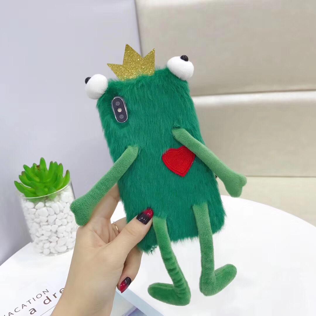可爱卡通青蛙毛绒适用于OPPOr17/pro手机壳r15/pro壳r7/r7s/r9s图片