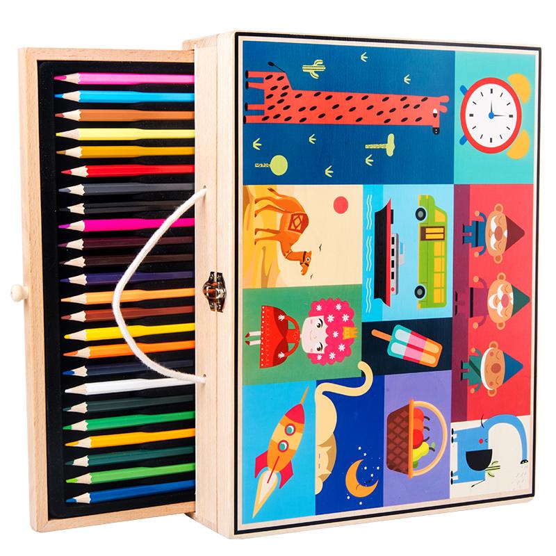 儿童画画工具水彩笔套装美术学习用品绘画笔礼盒幼儿园小学生礼物