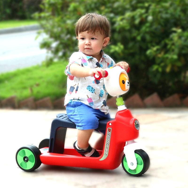 兒童滑板車3輪踏板車寶寶可坐兒童滑行車 1~3歲兒童玩具童車