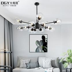 北欧创意个性客厅灯后现代简约卧室餐厅吊灯魔豆吊灯分子圆球灯具