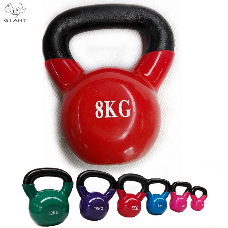 (用1元券)小巨人家用健身浸塑壶铃男士哑铃