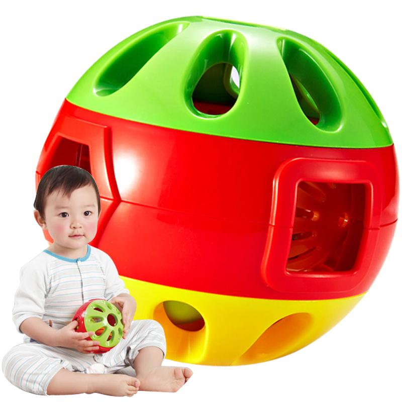 澳貝響鈴滾滾球嬰兒鈴鐺手抓球幼兒童學爬行寶寶健身玩具6~12個月