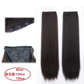古装假发一片式加长款直发片古风cos 仙女造型加厚接发片汉服造型图片