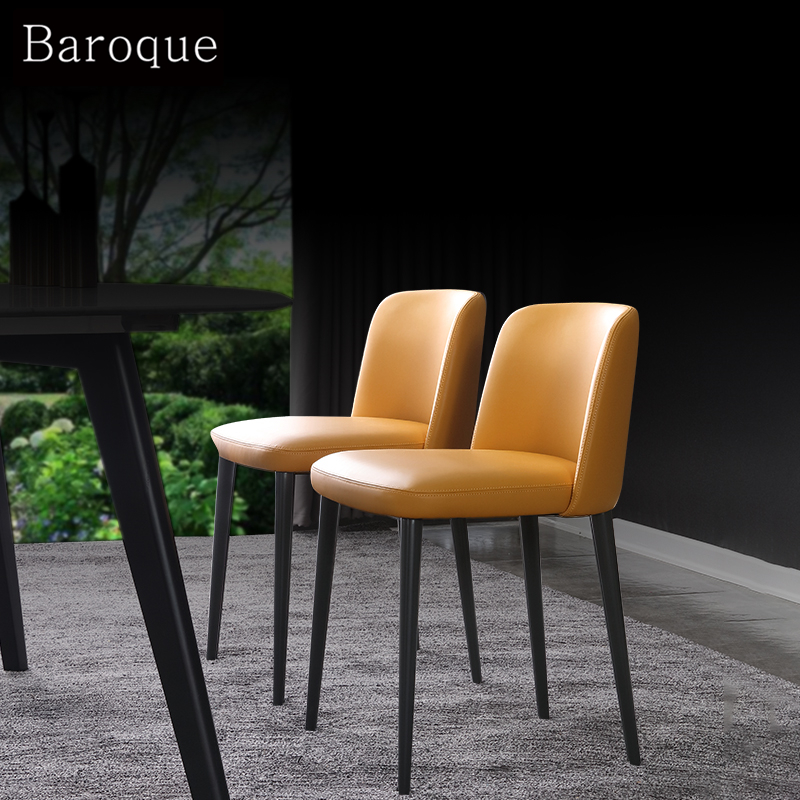LEATHER BALLET dining chair modern simple designer chair Nordic creative BackChair bar chair manufacturer direct sales