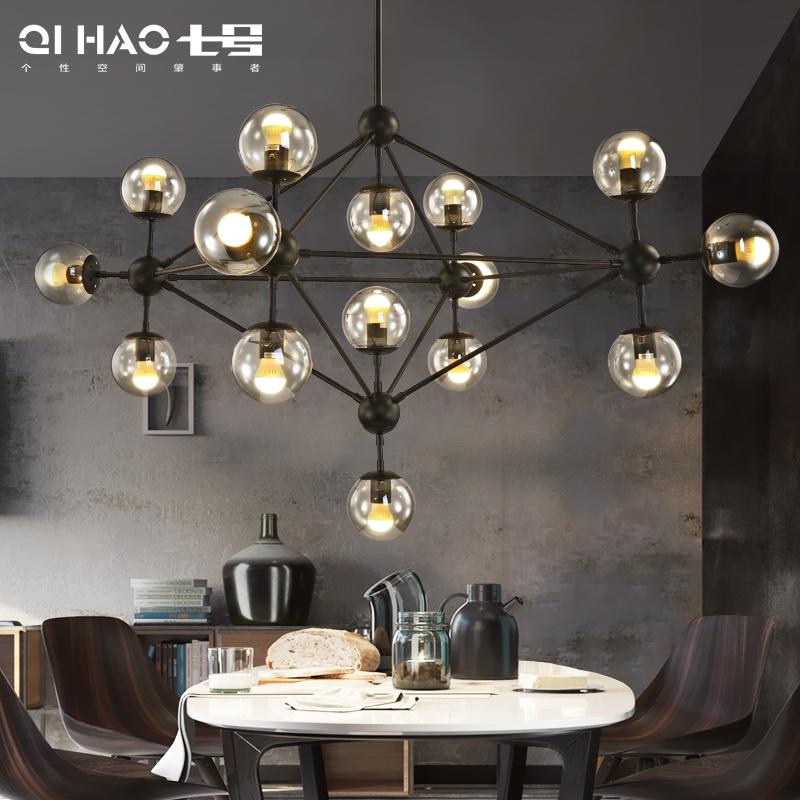 魔豆吊灯北欧灯具 个性创意简约现代客厅灯 玻璃球服装店餐厅LED