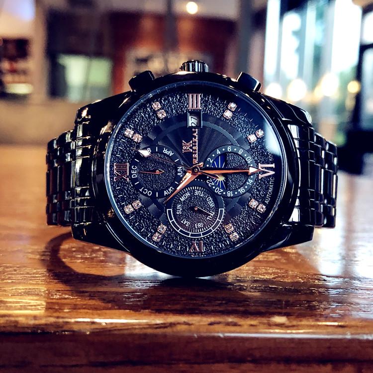 2020新款时尚潮流男士手表全自动机械表防水夜光镂空陀飞轮精钢表
