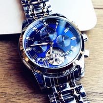 2019新款休闲时尚日历男士腕表潮流皮带石英表正品奥利妮男士手表