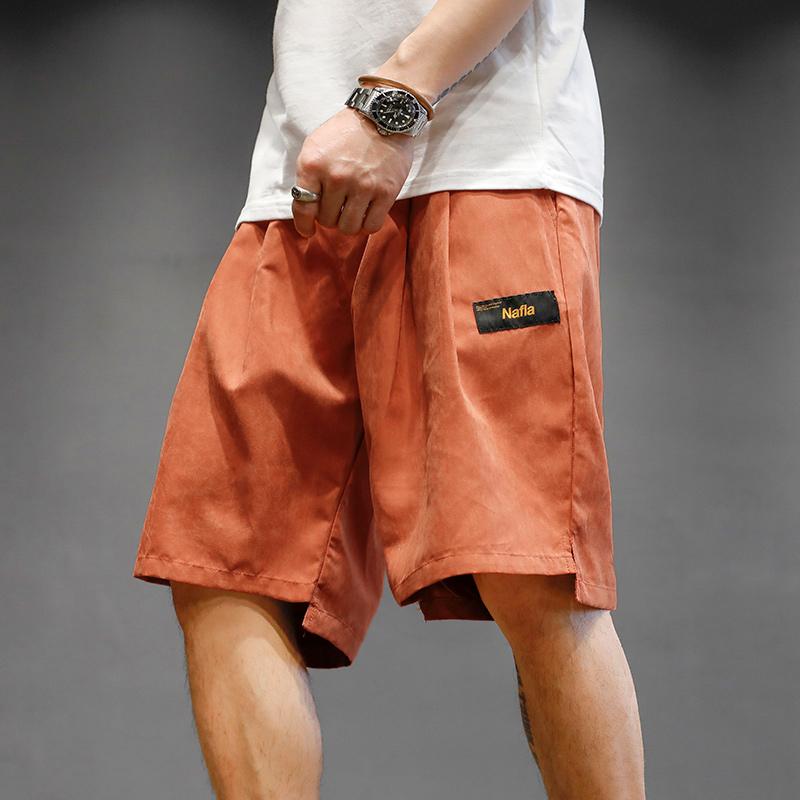 马切达夏季宽松桃皮绒休闲日系短裤满89.00元可用1元优惠券