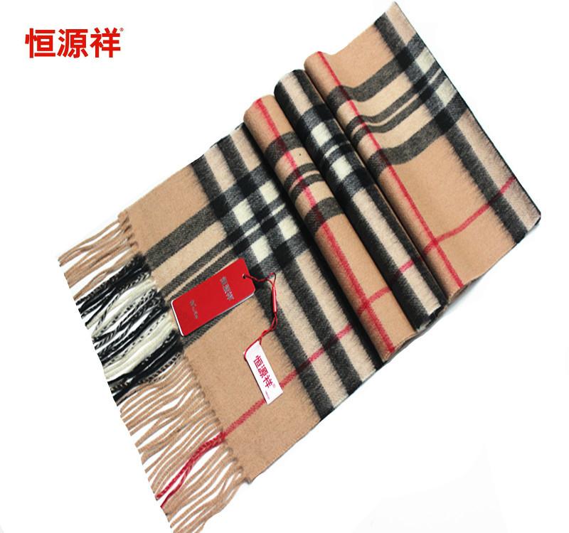 Hengyuanxiang 2016 новая осень зима ватки шарфы для мужчин и женщин были 100% чистой шерсти плед теплый шарф подарочная коробка