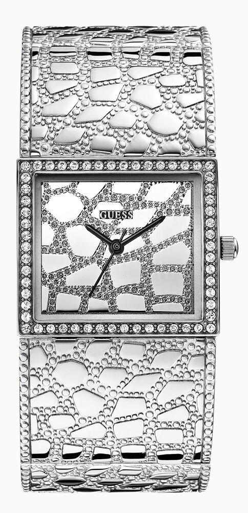 Guess盖尔斯女士银色鳄鱼纹不锈钢手表W0223L1 LUXE