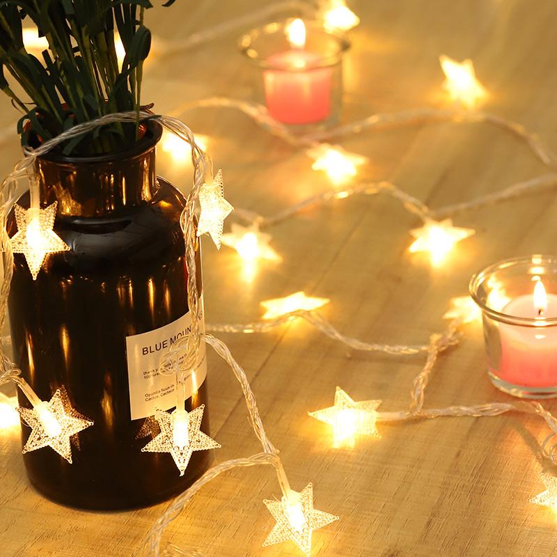 新年装饰家用过年LED星星灯饰网红小彩灯闪灯串灯满天星房间布置