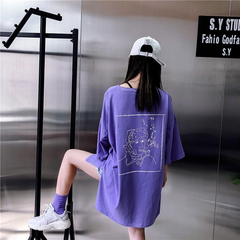 下衣失踪ins紫色超火的上衣新款女夏装2019短袖百搭t恤宽松半袖潮11月19日最新优惠