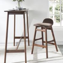 北欧轻奢大理石吧台桌椅组合商用现代简约家用高脚桌椅靠墙小吧台