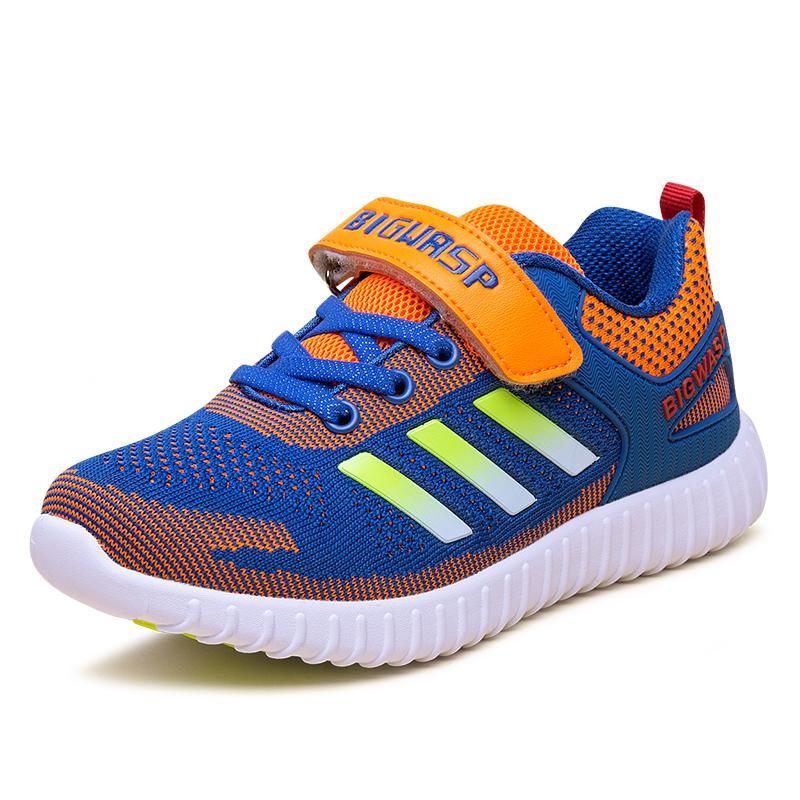 大黃蜂男童鞋 中大童學生鞋子 兒童 鞋男孩防滑透氣跑步鞋