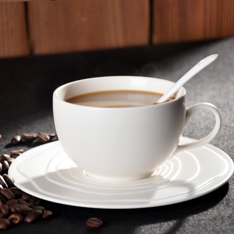 寶發陶瓷咖啡杯套裝 新骨瓷咖啡杯歐式純色杯配碟帶勺