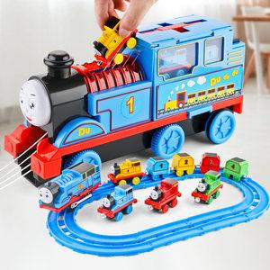 托马斯火车轨道车玩具电动声光大号惯性小汽车儿童男孩套装益智