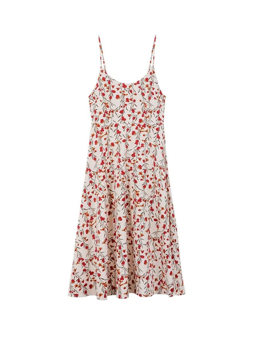 碎花网红吊带显瘦连衣裙女2020新款春季时尚A字裙韩版蓬松中长裙