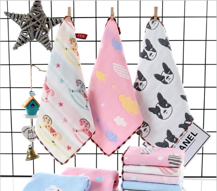 嬰兒紗布口水巾寶寶純棉小方巾毛巾新生兒洗臉巾兒童手帕手絹圍嘴