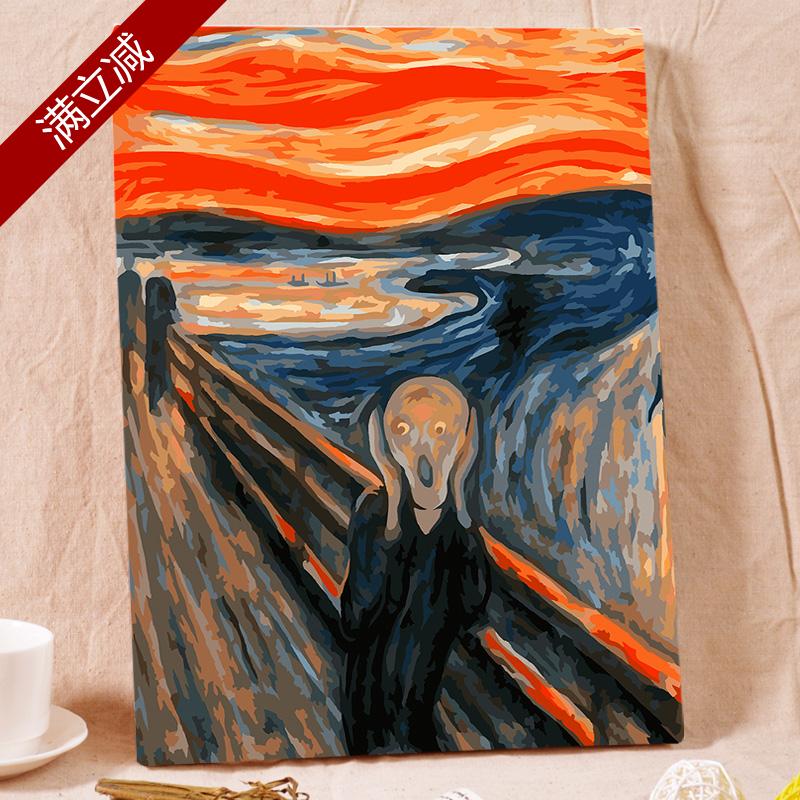 Самолично масло самолично живопись цифровой живопись diy ручная роспись ручной работы масло цвет математика для взрослых творческий заполнить цвет не доступно крик цифровой декоративный