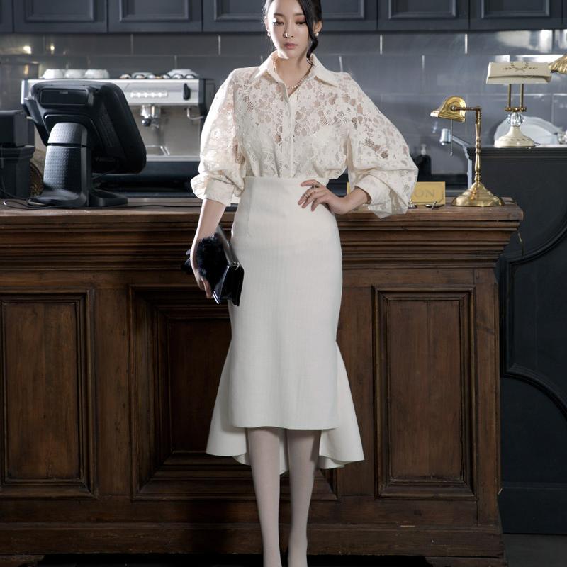 夏装裙子女2020新款围裹式半身裙鱼尾女士前短后长裙子不规则时尚