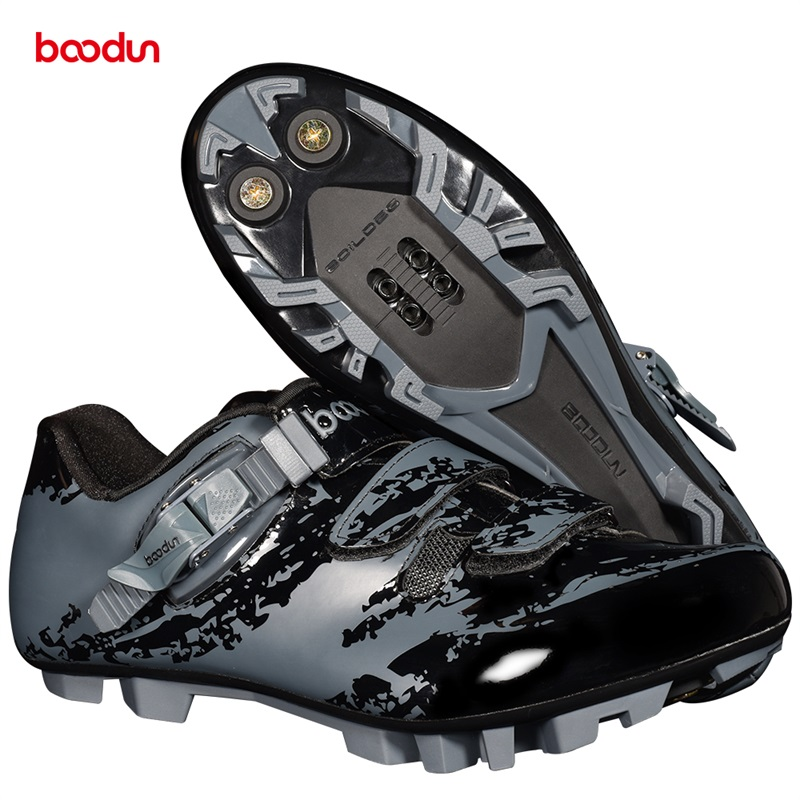Boodun cycling shoes mountain lock shoes cross country bicycle self lock shoes hard sole power ventilation Road lock shoes
