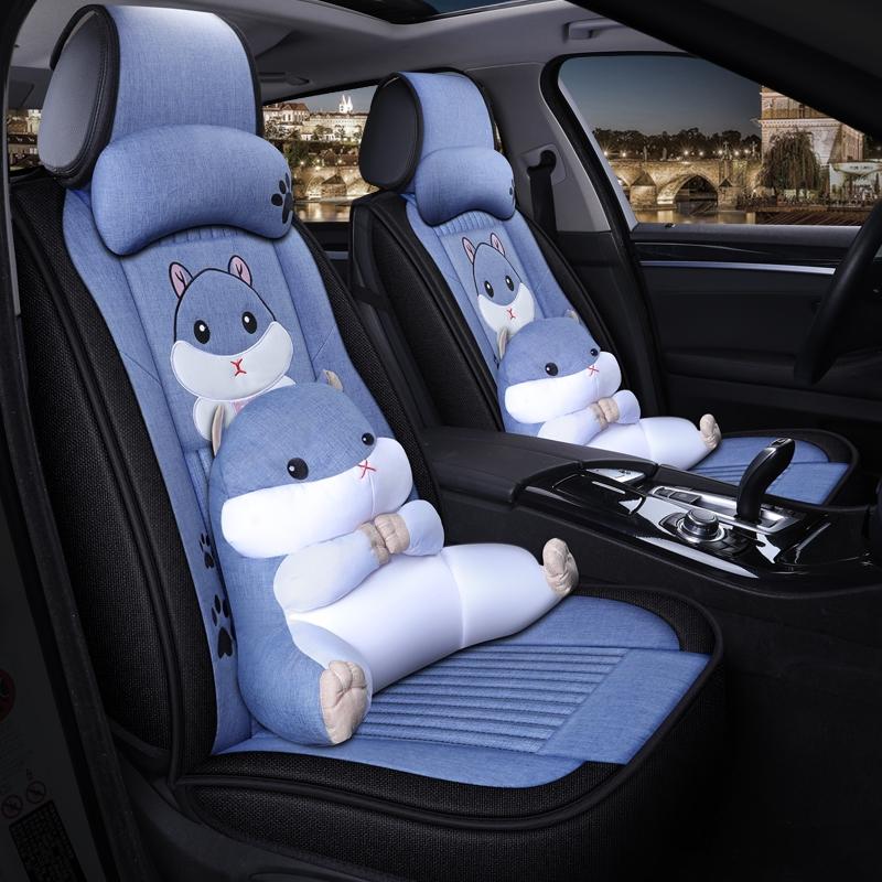 别克凯越威朗英朗GT昂科威昂科拉汽车座套四季亚麻专用全包围坐垫