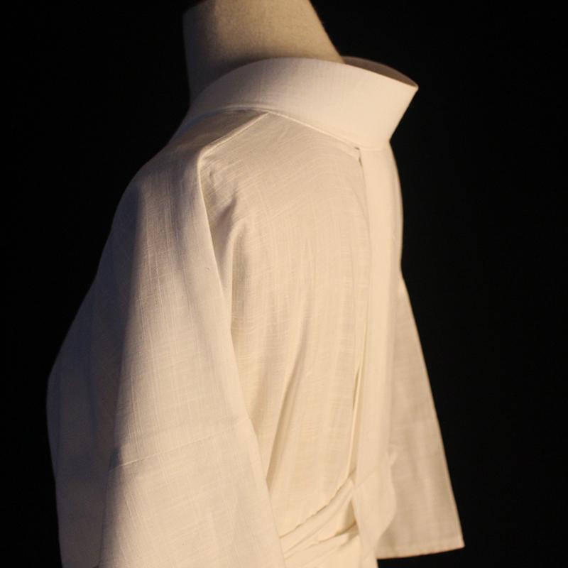 棉麻 日本和服浴衣羽织白色内搭肌襦袢现货(送领芯) 125cm