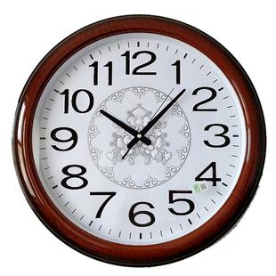 北极星客厅挂钟16-20英寸大号静音万年历带日历温度办公石英钟表