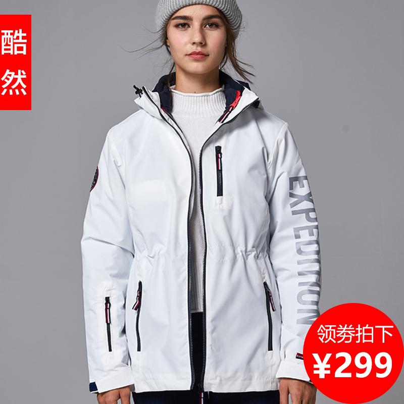 户外冲锋衣女三合一可拆卸加绒加厚外套秋冬潮牌韩国登山滑雪服男