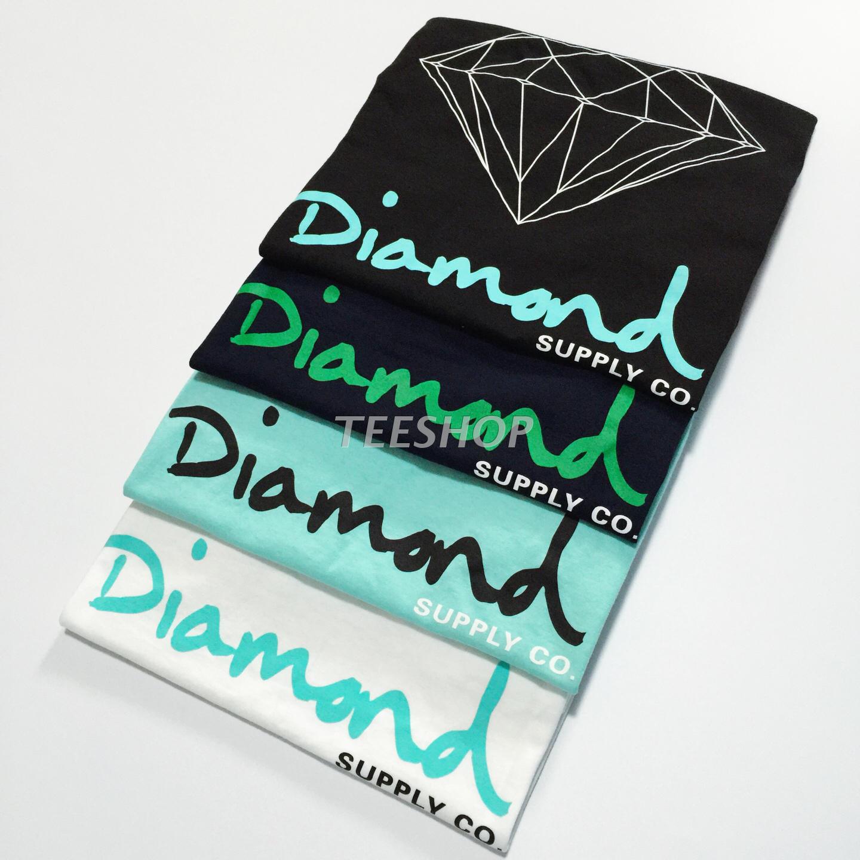 实力现货 Diamond Supply Co OG Sign 钻石 原创签名 薄荷绿 短袖