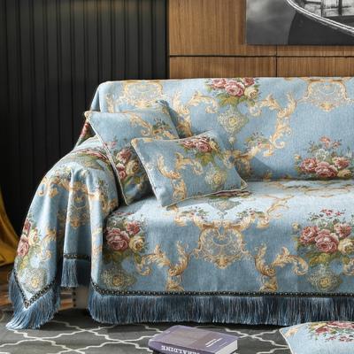 欧式沙发垫 雪尼尔加厚沙发套全包沙发罩巾全盖布艺四季通用防滑