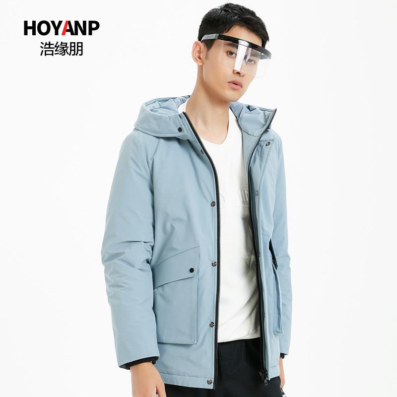 Haoyuanpeng 2019 new mens short down jacket hooded off season special winter coat trend mens wear
