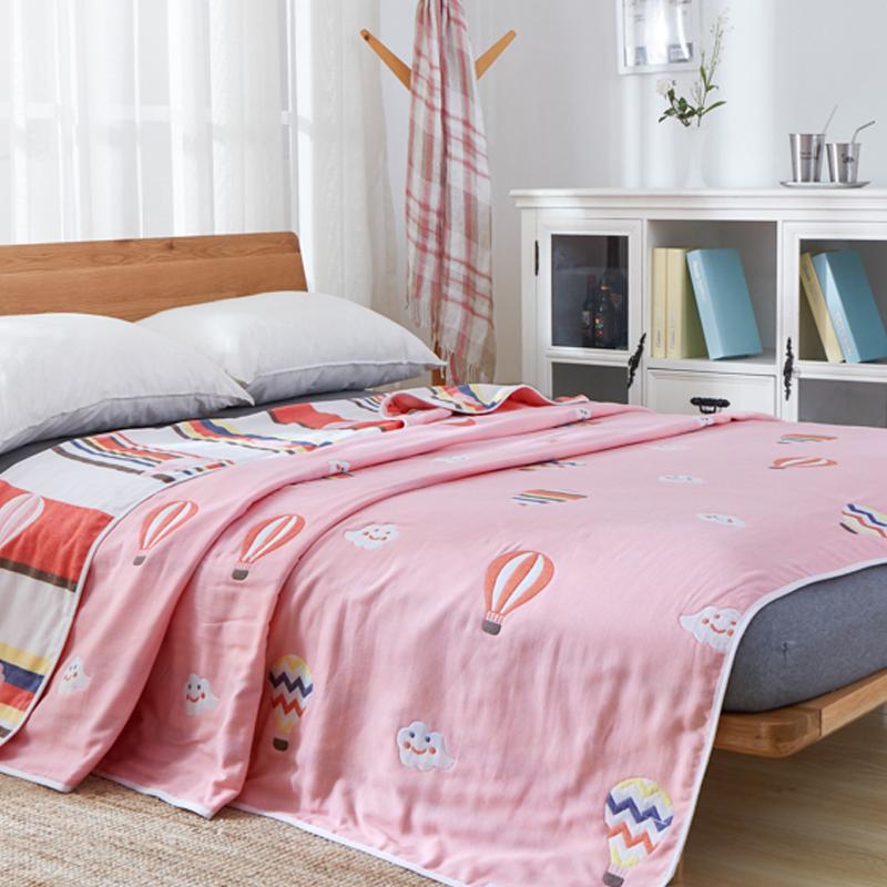 纯棉毛巾被六层纱布毛巾毯全棉加厚空调毯婴儿童被单人午睡夏凉被