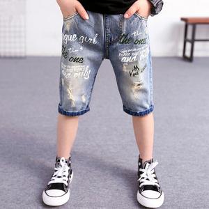 男童牛仔短裤夏季薄款童装儿童中裤2020新款马裤中大童裤子韩版潮